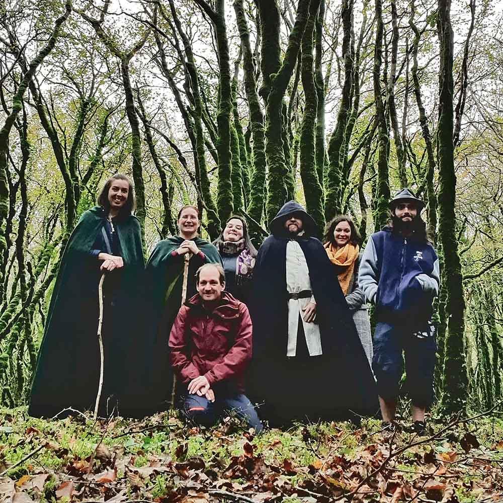 photo de groupe à la fin de la fête de la Chasseresse Ardianna