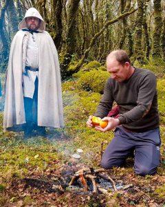 Offrande d'orange à Belenos pour l'Équinoxe de Printemps
